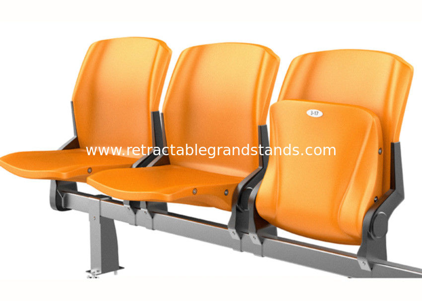 Comfortable Sports Stadium Seats Fire Resistant HDPE Material With Number