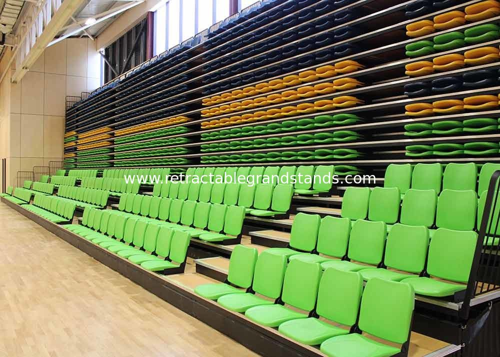 Melody Polymer Telescopic Tribunes Retractable Seating EN1320-5 For Sport Place