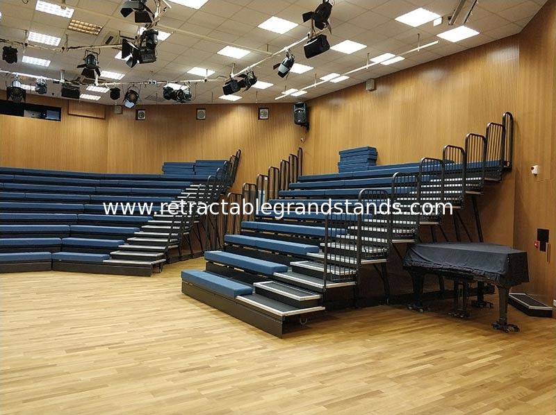 Wall Attached Unit Retractable Bleacher Seating Gym Sport Hall Application